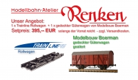 Set: TrainLine 45 Trolley and coverd freight car from Modelbouw Boerman