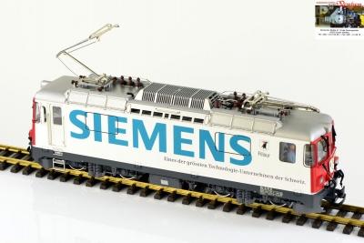Siemens Werbelok der RhB Ge 4/4 II von KISS Modellbahn Service auf Basis LGB
