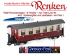 Train Line HSB Passenger Car 6 Windows - incl. Fesl equipment - Scissor lattice and load hook